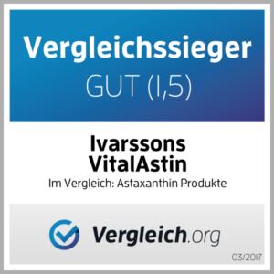 Astaxanthin Bewertungen von Ivarssons VitalAstin mit natürlichem Astaxanthin