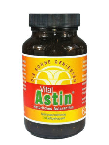 Astaxanthin von Ronald Ivarsson bei Vergleich ORG Gewinner VitalAstin mit 300 Kapseln mit natürlichem Astaxanthin